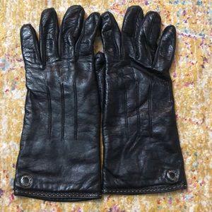 Coach gloves, black, size 7.5
